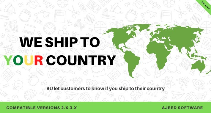 BU let your customers know if you ship to their country
