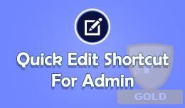Admin Shortcuts like WordPress admin Toolbar