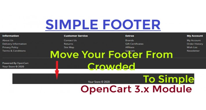 Simple Footer - OpenCart 3.x [OCMOD]
