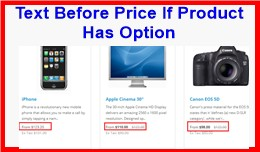 Text Before Price If Products Has An Options