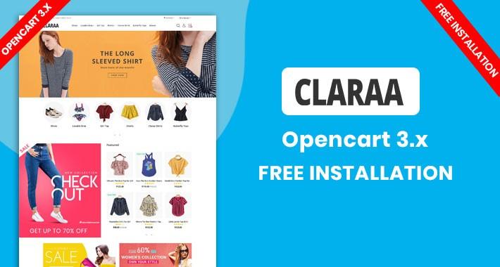 Claraa Fashion Multipurpose Theme (Free installation)