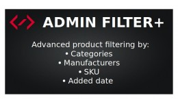 Admin product filter by Category/Manufacturer/Da..