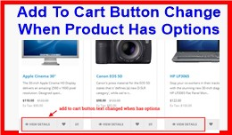 Add To Cart Button Change When Product Has Options