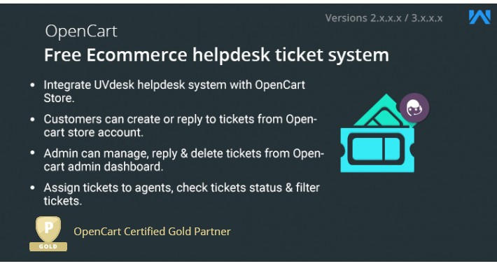 Opencart UVdesk - Free Ecommerce helpdesk ticket system