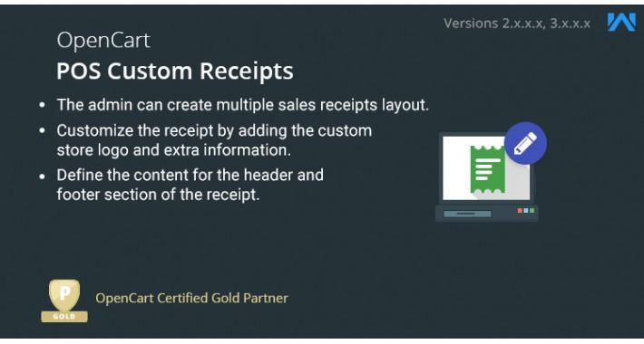 Opencart Point of Sale Custom Receipt
