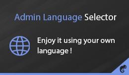 Admin Language Selector