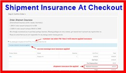 Shipment Insurance At Checkout