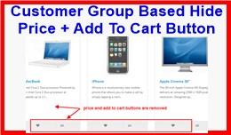 Customer Group Based Hide Price + Add To Cart Bu..