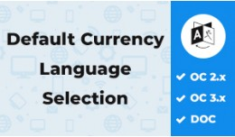Default Currency & Language Selection