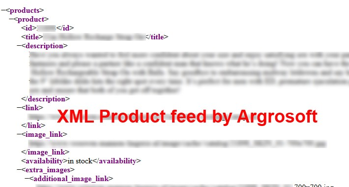 Product xml feed on google marchant based