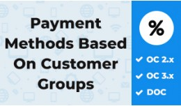 Payment Methods By Customer Groups