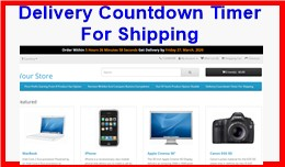 Delivery Countdown Timer For Shipping