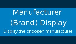 Manufacturer (Brand) Display