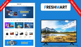 Freshmart Electronics Responsive website theme