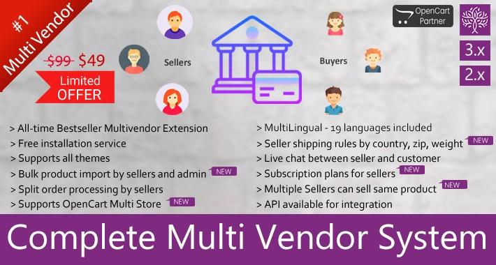 Complete Multi Vendor System