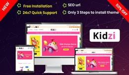 Kidzi- Baby Kids Toys opencart Website Theme (Fr..