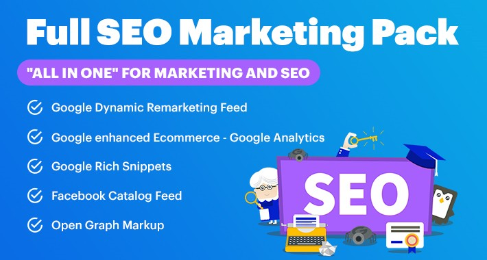 Full SEO + Marketing Pack FB Feed/Google Feeds/Rich Snippets/etc