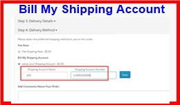 Bill My Shipping Account