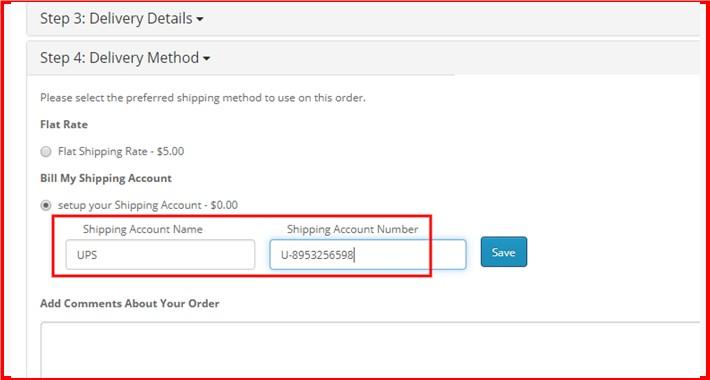 Bill My Shipping Account