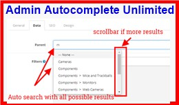 Admin Autocomplete Unlimited