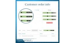 Customer order info