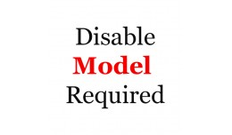 Disable model required