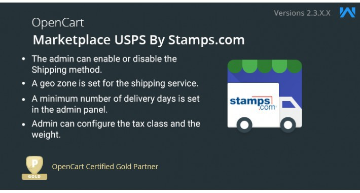 Opencart Multi Seller Marketplace USPS by stamps.com