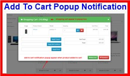 Add To Cart Popup Notification