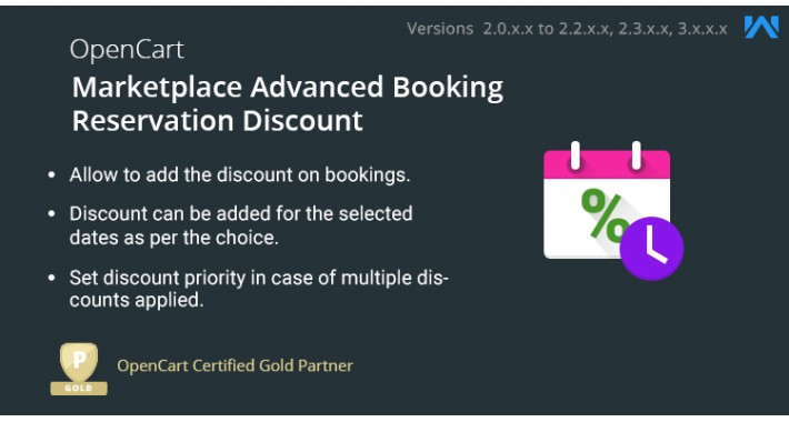 Opencart Multi Vendor Advanced Booking Reservation Discount