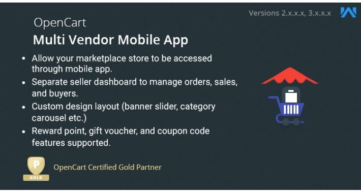 Opencart Multi Seller Mobile App