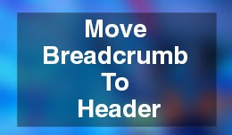 Move Breadcrumbs to Header