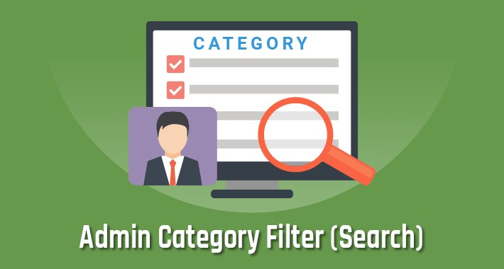 Admin Category Search or Filter