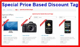Special Price Based Discount Tag