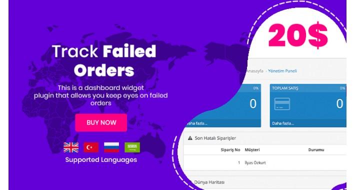 Failed Orders - Dashboard Plugin