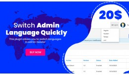 Admin Quick Language Switcher