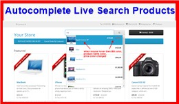 Autocomplete Live Search Products
