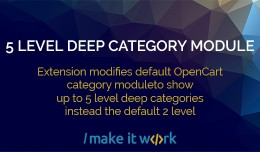 5 level deep category module