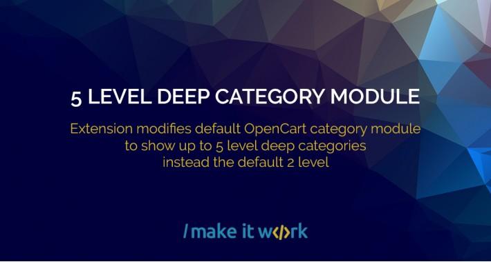 5 level deep category module