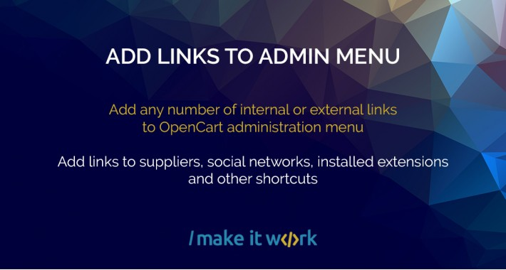Add Links To Admin Menu