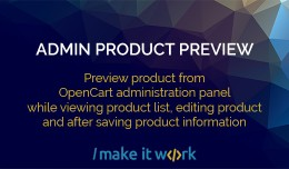 Admin Product Preview