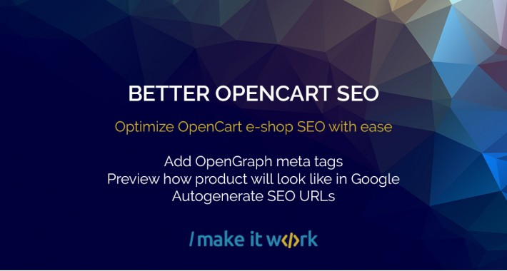 Better SEO - smart way to optimize OpenCart SEO