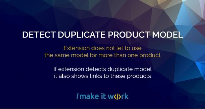 Detect Duplicate Product Model