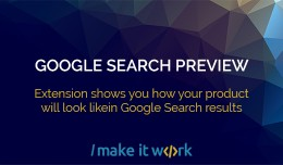 Google Search Preview extension
