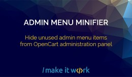 Hide Admin Menu items - Admin Menu Minifier