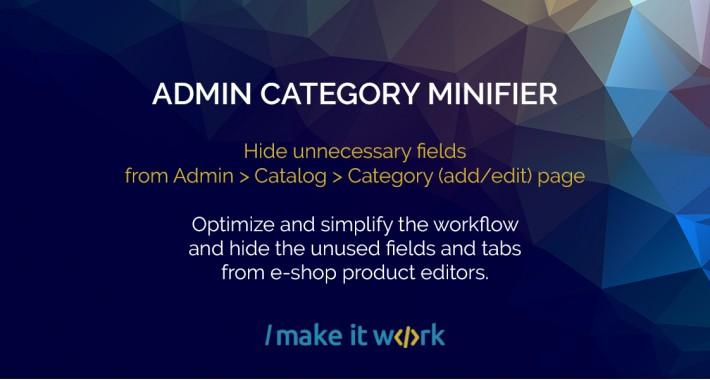 Hide Category Fields - Admin Category Minifier