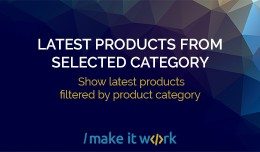 Latest Products From selected Category