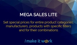 Mega Sales Lite - Start sale in one click