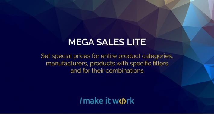 Mega Sales Lite - Start sale in one click