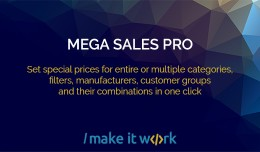 Mega Sales Pro - start massive sale in a click!