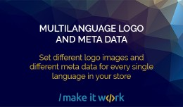 Multilanguage logo and meta data